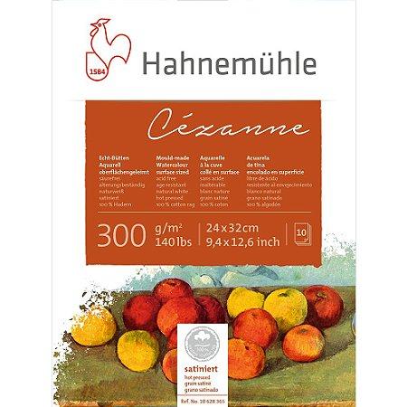 Bloco Aquarela Cezanne Hahnemuhle 300g/m² 24X32 Hot Pressed 10Fls