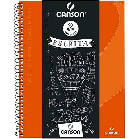 Caderno Pautado Escrita Canson A4+ Laranja 80Fls 90G