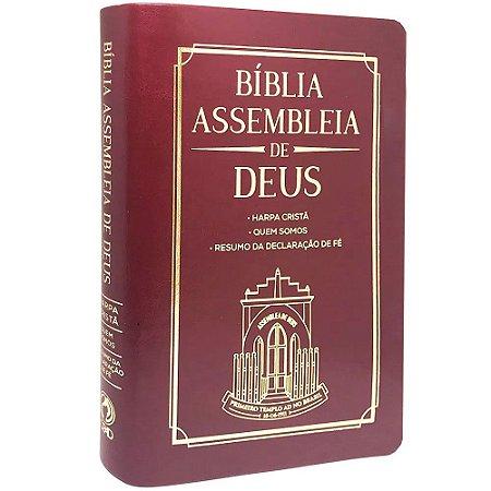 Bíblia Das Assembleias De Deus Vinho (Capa Igreja)