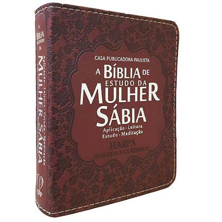 Bíblia De Estudo Da Mulher Sábia Bordô - Mod. 05 Dália
