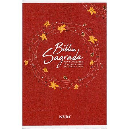 Bíblia Sagrada Nvi Grande 2 cores - Capa Brochura - Vermelha