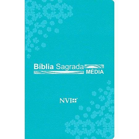 Bíblia Sagrada Nvi Média - Capa Luxo Turquesa
