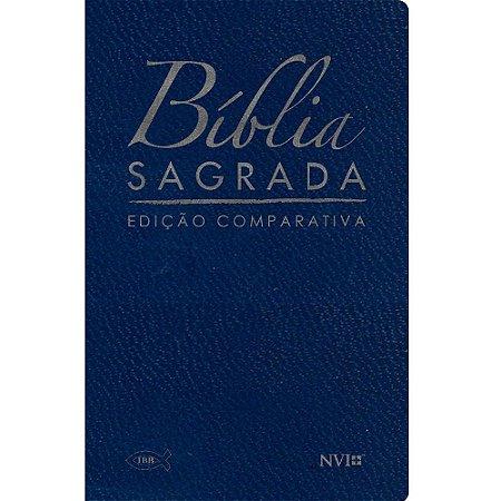 Bíblia Sagrada Edição Comparativa Extra-Gigante - Capa Luxo Azul (Rc-Nvi)