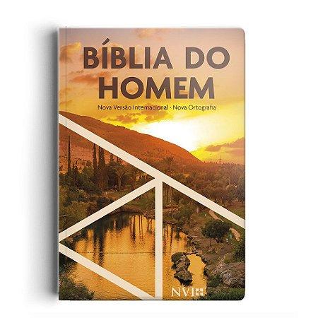 Bíblia Do Homem Nvi - Capa Pôr Do Sol