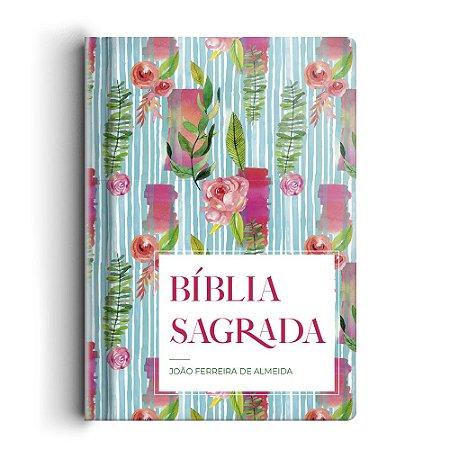 Bíblia Sagrada Arc Gigante Semi Luxo - Flor Listrada