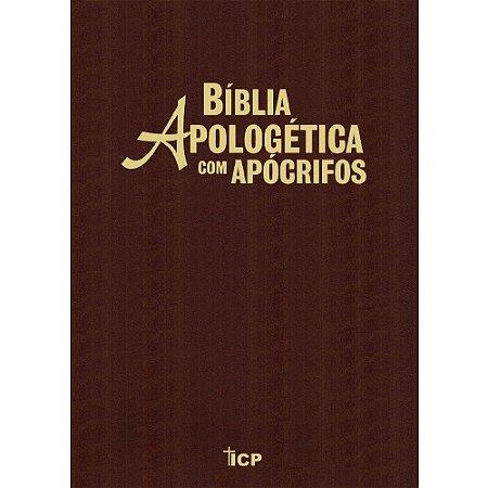 Bíblia Apologética Com Apócrifos - Capa Luxo Marrom