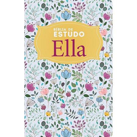 Bíblia De Estudo Ella Nvi - Capa Especial Floral