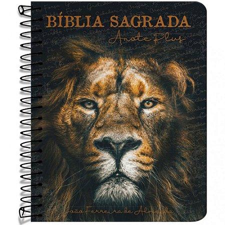 Bíblia Anote Plus Rc Espiral - Capa Leão De Judá