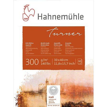 Bloco Aquarela William Turner 30x40cm Cold Pressed 300g/m² 10 Fls Hahnemuhle