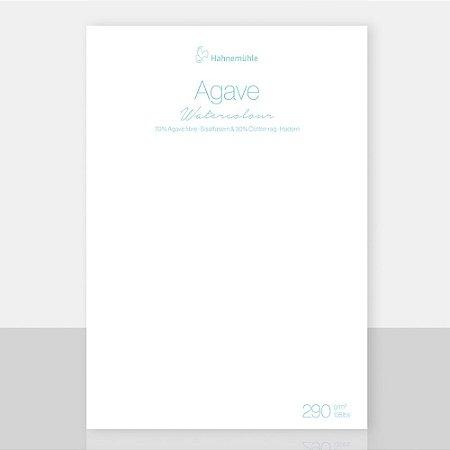 Papel Agave Watercolour Folha 50x65cm Textura Fina 290g/m² 10 Fls Hahnemuhle
