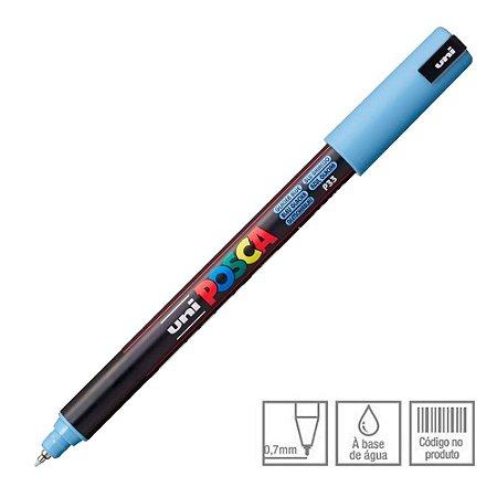 Caneta Marcador Posca PC-1MR Azul Glacial P33 Uni-Ball