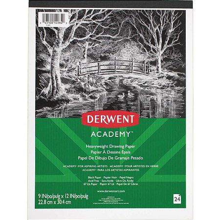 Bloco Papel Derwent Academy Preto 110 g/m² 22.8x30.4cm 24 fls X-569