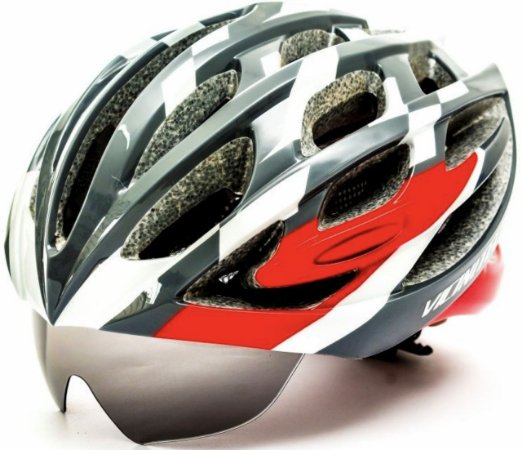 Capacete Bike Apollo Tam: M C/ Óculos Embutido Viseira Diurna E Noturna Cor Preto/Vmo/Cinza