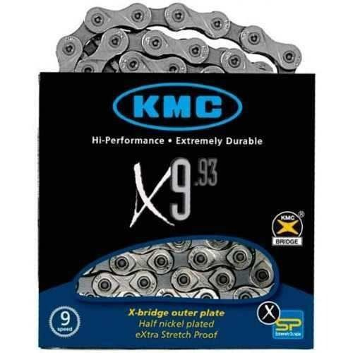 Corrente Kmc X9 Silver Prata 116 Elos Bike Mtb Speed