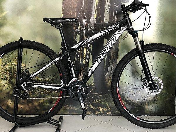 Bicicleta 29 Vicinitech Agile 24v Cambio Tourney Freio a Disco Suspensao Elleven Trava no ombro
