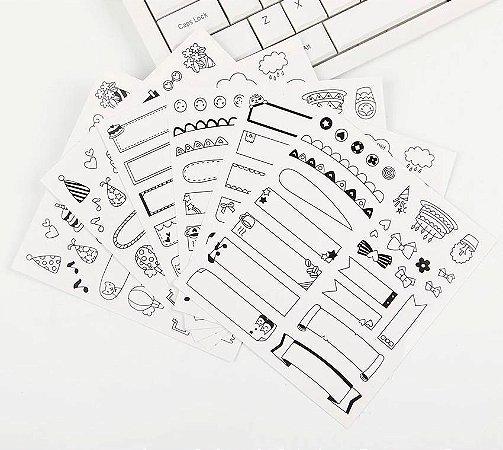 Adesivos Etiquetas Para Scrapbook