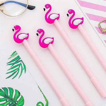 Caneta Em Gel Flamingo Fofo