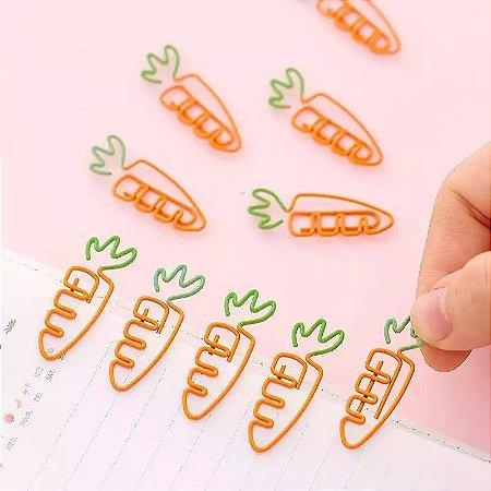 Clip Escolar de Cenoura Pequeno - 1 Unidade