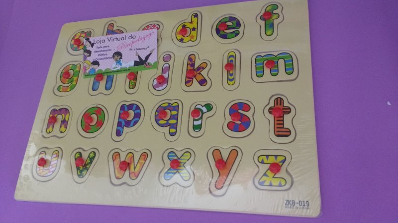 Alfabeto Encaixe com Pino