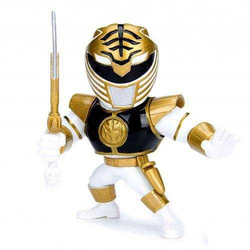 "Metals Die Cast - Ranger Branco - Power Rangers - 4"" - Jada Toys"