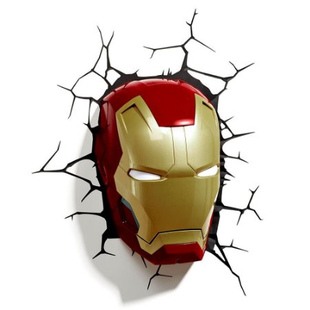 Luminária Homem de Ferro - Máscara - Marvel - 3D Light FX