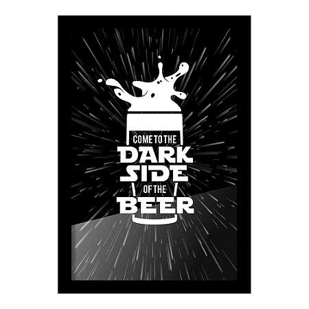 Quadro Porta Tampinha de Cerveja - Dark Side Beer - Beek