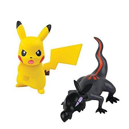 Boneco Pokemon - Pikachu vs Salandit - Tomy