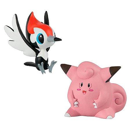 Boneco Pokemon - Pikipek vs Clefairy - Tomy