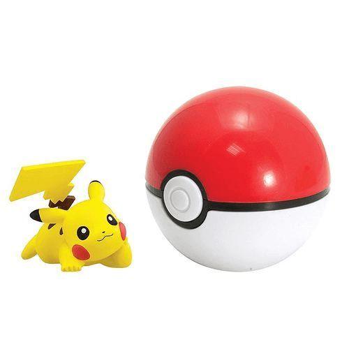 Boneco Pokemon - Pikachu + Pokebola - Tomy