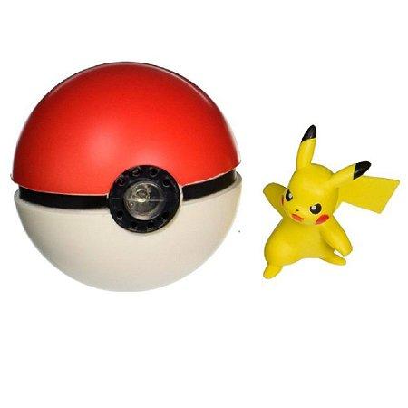 Pokémon - Pokebola + Pikachu - Com som e luz  - Tomy
