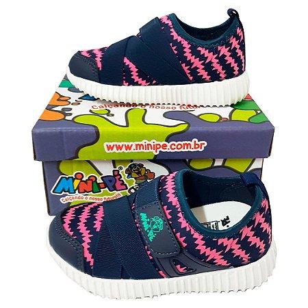 d8d14d042 Tênis Mini-pé Marinho com Pink - Loja de Calçados Feminino, Infantil ...