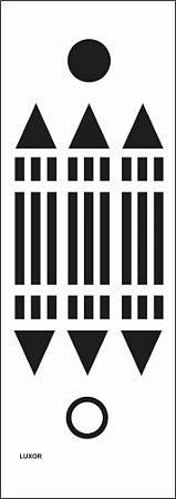 Placa Luxor em PVC 15x5,5 cm