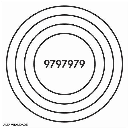 Placa Alta Vitalidade em PVC 17x17 cm