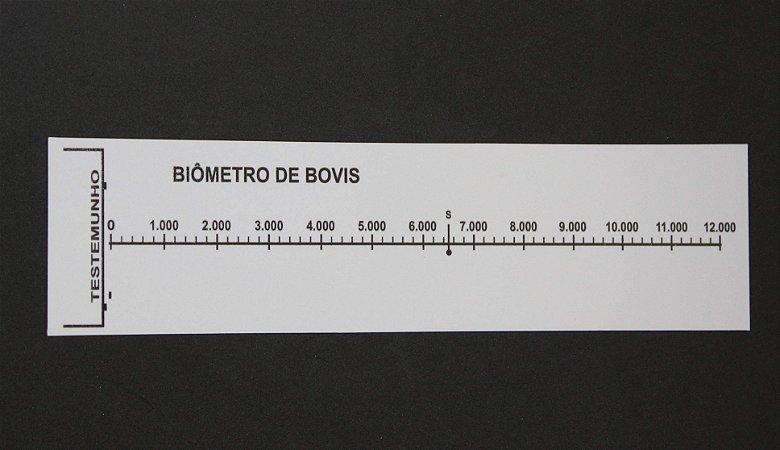 Biômetro de Bovis PVC 30x8 cm