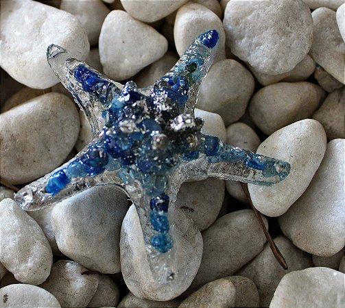 Orgonite estrela do mar azul