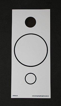 Placa Círculo PVC 30x13 cm