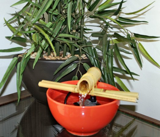 Fonte de Bica de Bambu Cerâmica Terra.