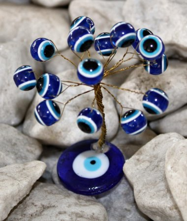 Árvore Talismã Pequena 8 cm - Olho Grego