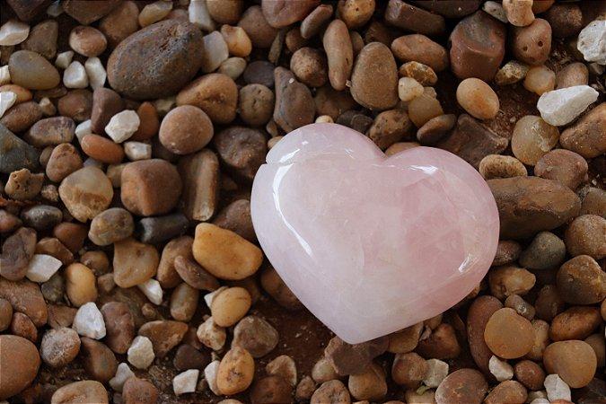 Coração de Quartzo Rosa 100 gramas