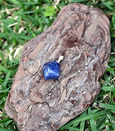 Pingente da Pedra Sodalita Rolada - Signo de Sagitário