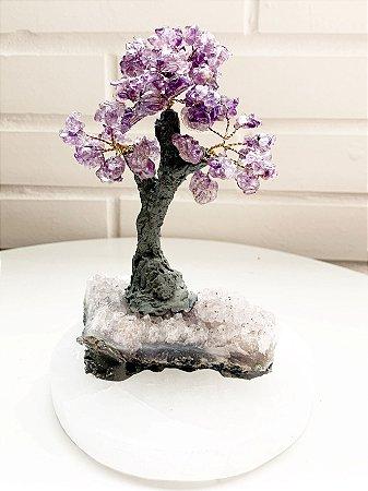 Árvore de Ametista com Base de Ametista 15 cm