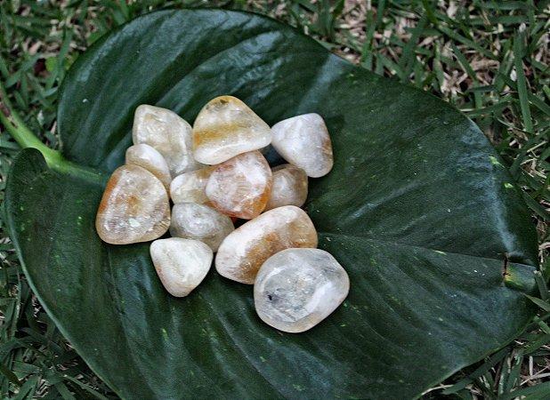 Citrino Pedra Rolada Unitária Tam de 3 até 4 cm