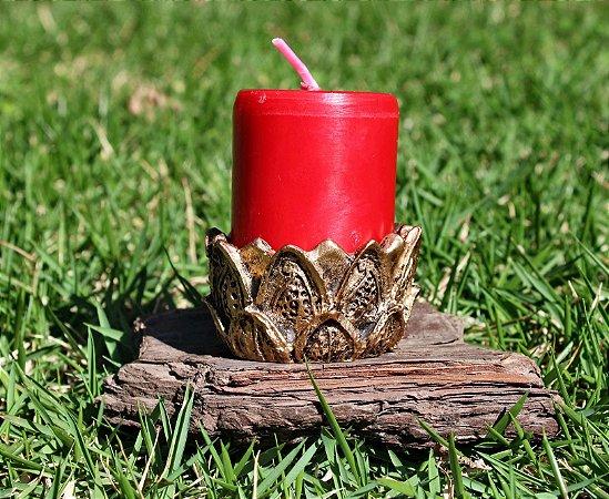 Vela Vermelha flor de lótus