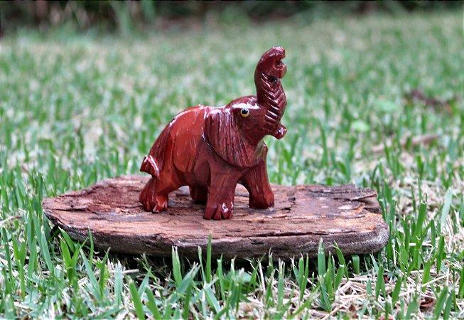 Elefante em pedra Marrom