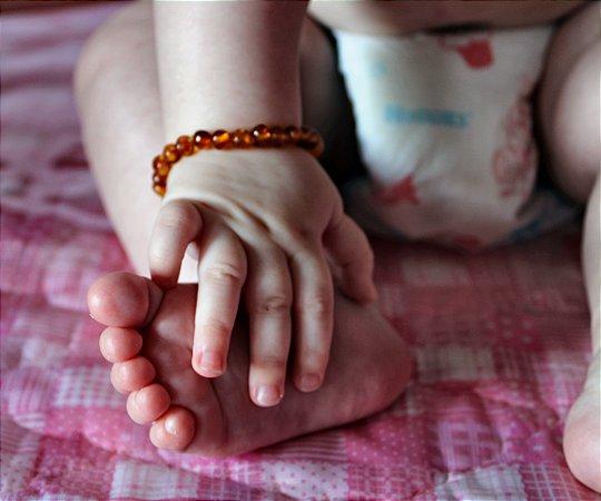 Pulseira/ Tornozeleira de Âmbar para Bebê 100% original (certificado)