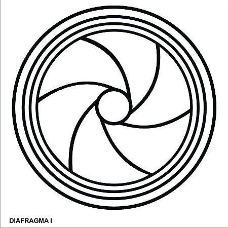 Placa Radiônica Diafragma I em PVC 17x17 cm