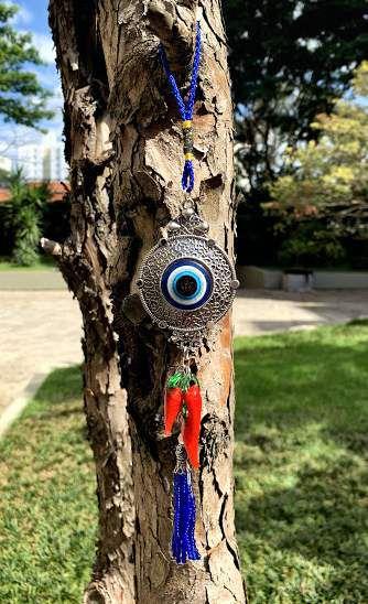 Amuleto de Olho grego com Pimenta