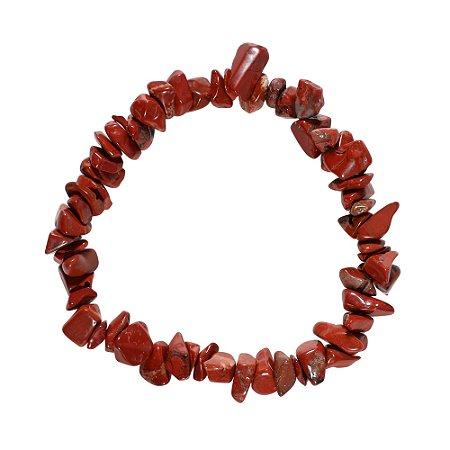 Pulseira cascalho Jaspe Vermelho grande - Signo de Touro
