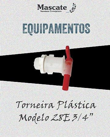 "Torneira Plástica Modelo 28E 3/4"""