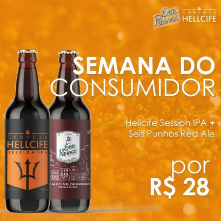 Combo - Seis Punhos Red ale + Hellcife Session IPA